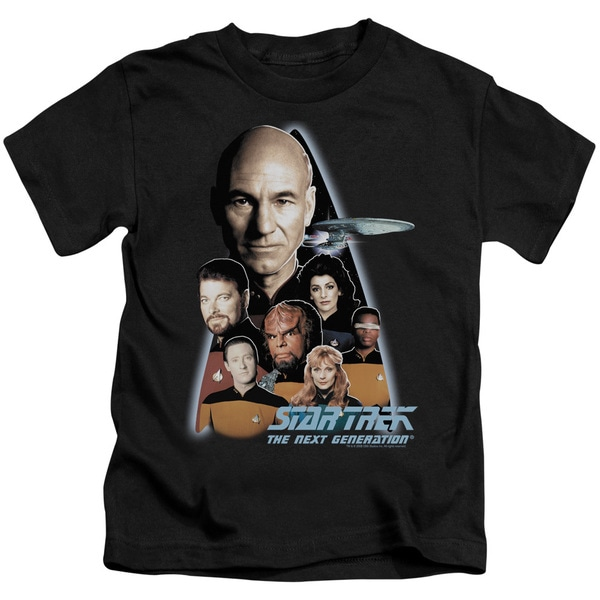 Star Trek/The Next Generation Short Sleeve Juvenile Graphic T-Shirt in Black