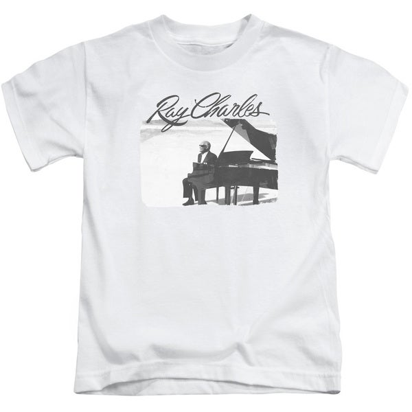 Ray Charles/Sunny Ray Short Sleeve Juvenile Graphic T-Shirt in White