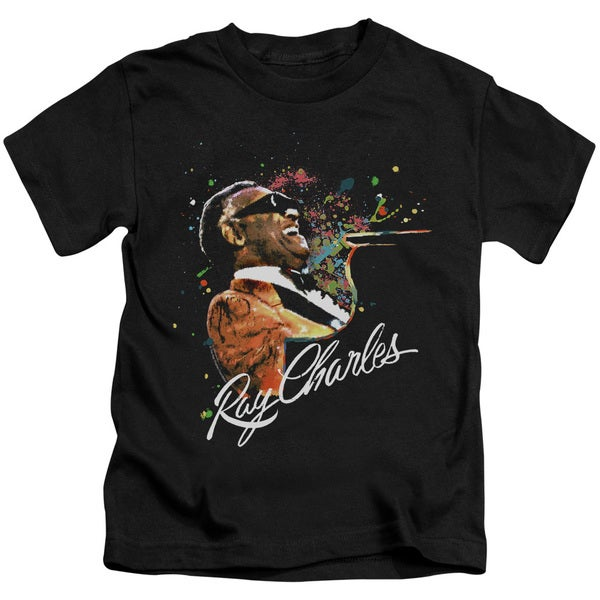 Ray Charles/Soul Short Sleeve Juvenile Graphic T-Shirt in Black