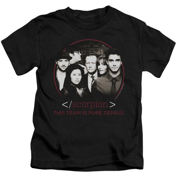 Scorpion/Cast Short Sleeve Juvenile Graphic T-Shirt in Black