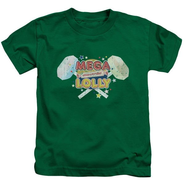 Smarties/Mega Lolly Short Sleeve Juvenile Graphic T-Shirt in Kelly Green