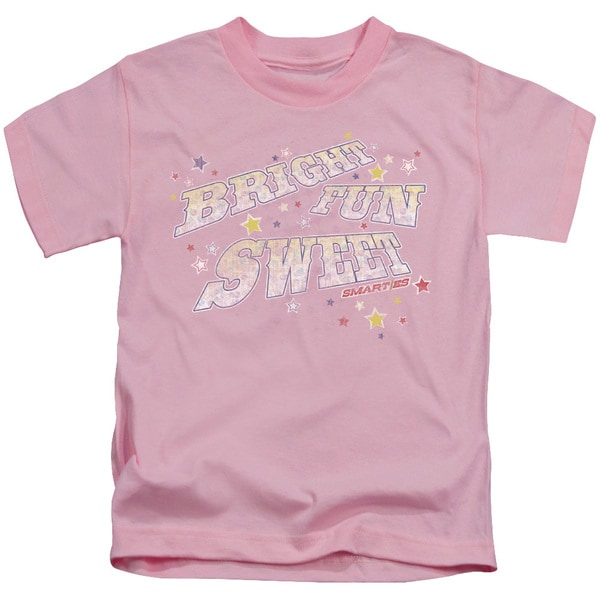 Smarties/Bright Fun Sweet Short Sleeve Juvenile Graphic T-Shirt in Pink