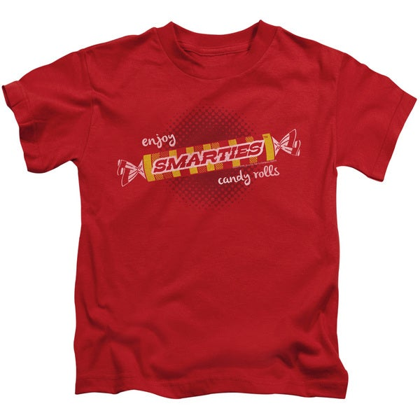 Smarties/Enjoy Short Sleeve Juvenile Graphic T-Shirt in Red