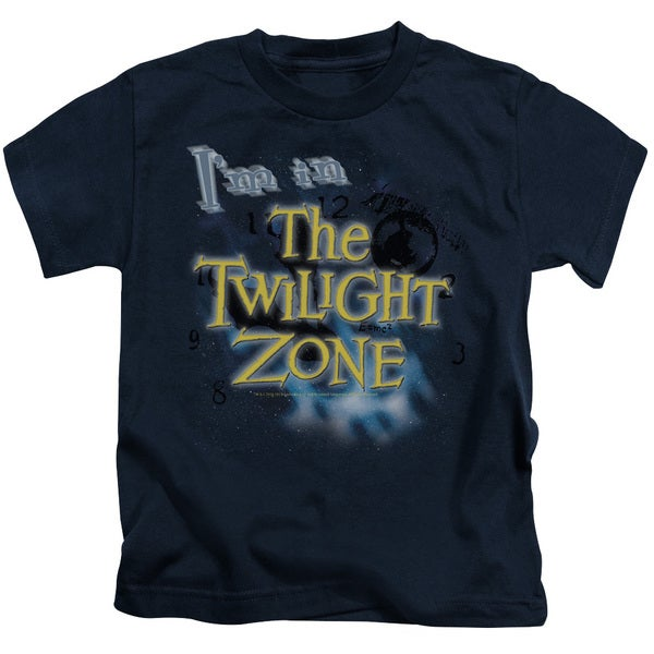 Twilight Zone/I'M in The Twilight Zone Short Sleeve Juvenile Graphic T-Shirt in Navy