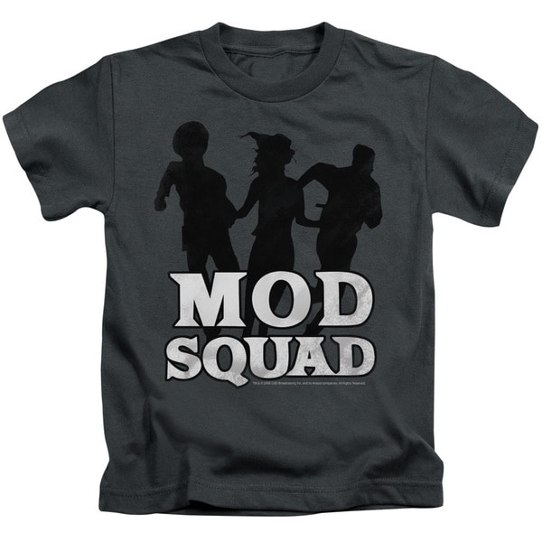 Mod Squad/Mod Squad Run Simple Short Sleeve Juvenile Graphic T-Shirt in Charcoal