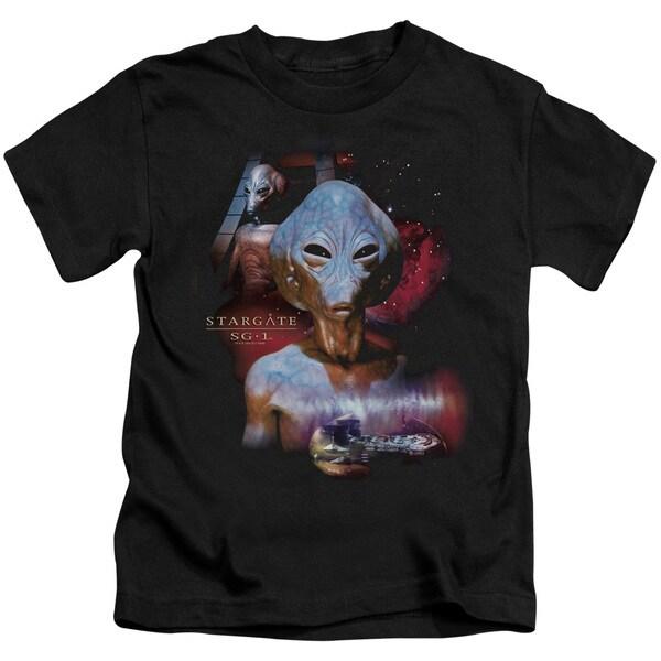Sg1/The Asgard Short Sleeve Juvenile Graphic T-Shirt in Black