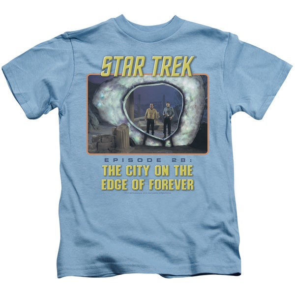 St Original/Edge Of Forever Short Sleeve Juvenile Graphic T-Shirt in Carolina Blue