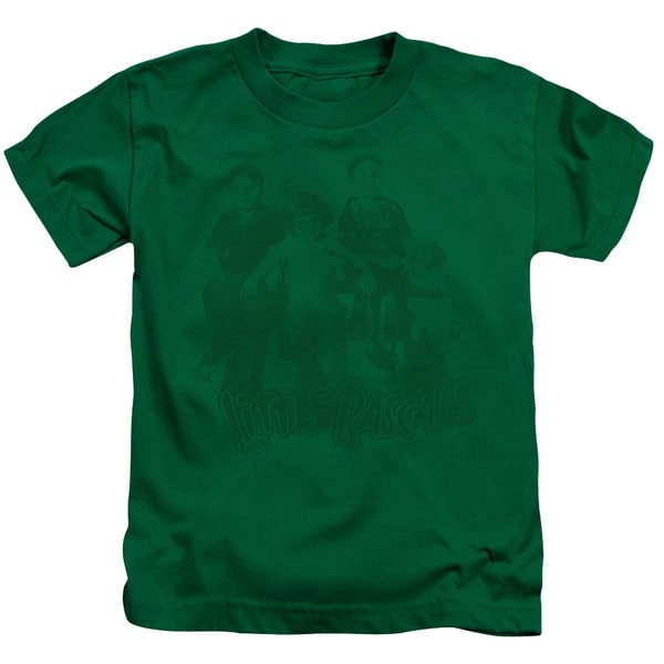 Little Rascals/The Gang Short Sleeve Juvenile Graphic T-Shirt in Kelly Green