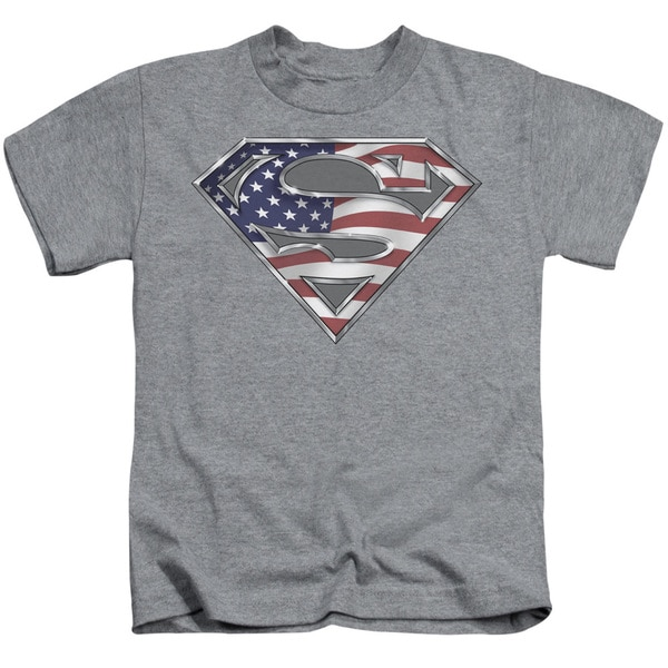 Superman/All Short Sleeve Juvenile Graphic T-Shirt in Heather