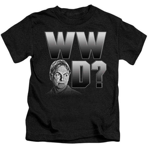 Ncis/What Would Gibbs Do Short Sleeve Juvenile Graphic T-Shirt in Black