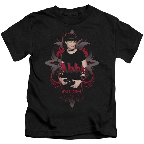 Ncis/Abby Gothic Short Sleeve Juvenile Graphic T-Shirt in Black