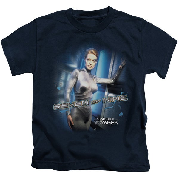 Star Trek/Seven Of Nine Short Sleeve Juvenile Graphic T-Shirt in Navy