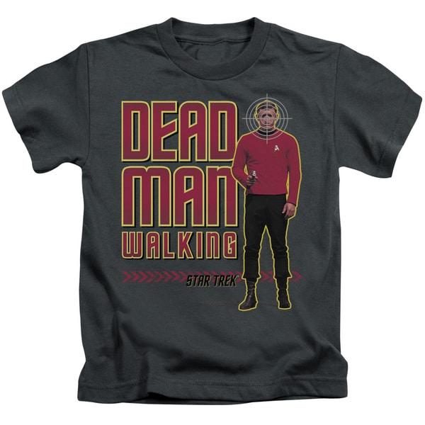 Star Trek/Dead Man Walking Short Sleeve Juvenile Graphic T-Shirt in Charcoal