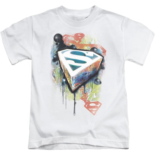 Superman/Urban Shields Short Sleeve Juvenile Graphic T-Shirt in White