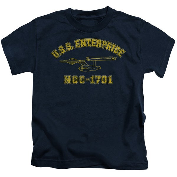Star Trek/Enterprise Athletic Short Sleeve Juvenile Graphic T-Shirt in Navy