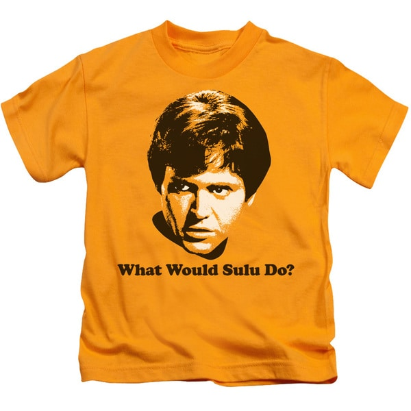 Star Trek/What Would Sulu Do Short Sleeve Juvenile Graphic T-Shirt in Gold
