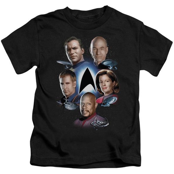 Star Trek/Starfleet's Finest Short Sleeve Juvenile Graphic T-Shirt in Black