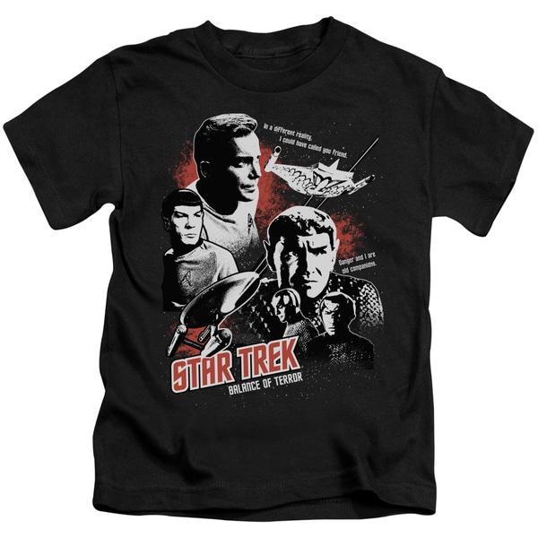 Star Trek/Balance Of Terror Short Sleeve Juvenile Graphic T-Shirt in Black