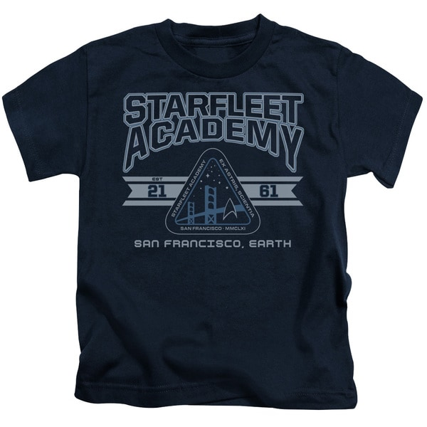 Star Trek/Starfleet Academy Earth Short Sleeve Juvenile Graphic T-Shirt in Navy