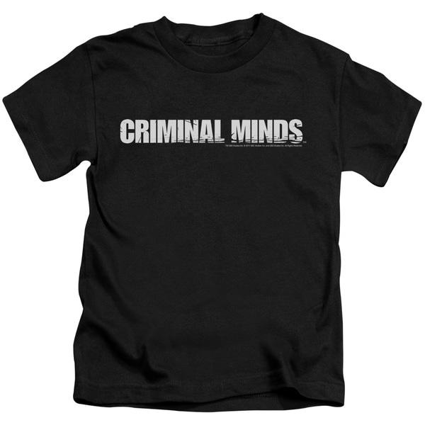 Criminal Minds/Logo Short Sleeve Juvenile Graphic T-Shirt in Black