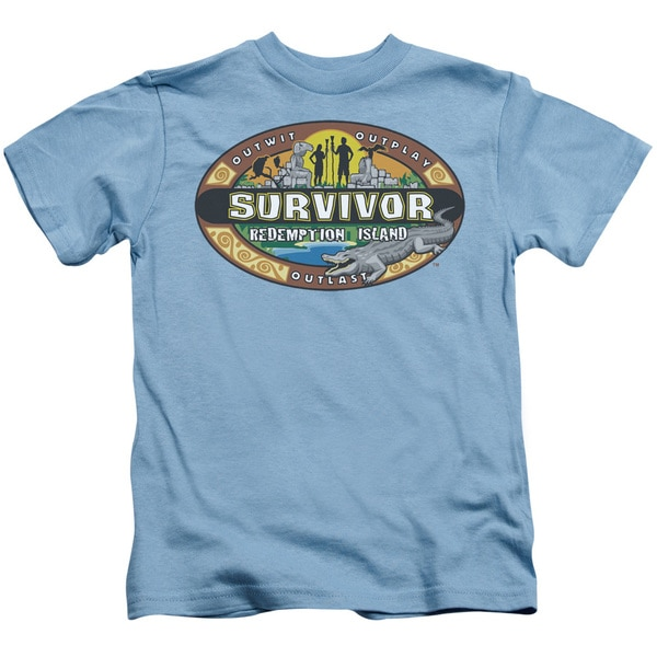 Survivor/Redemption Island Short Sleeve Juvenile Graphic T-Shirt in Carolina Blue