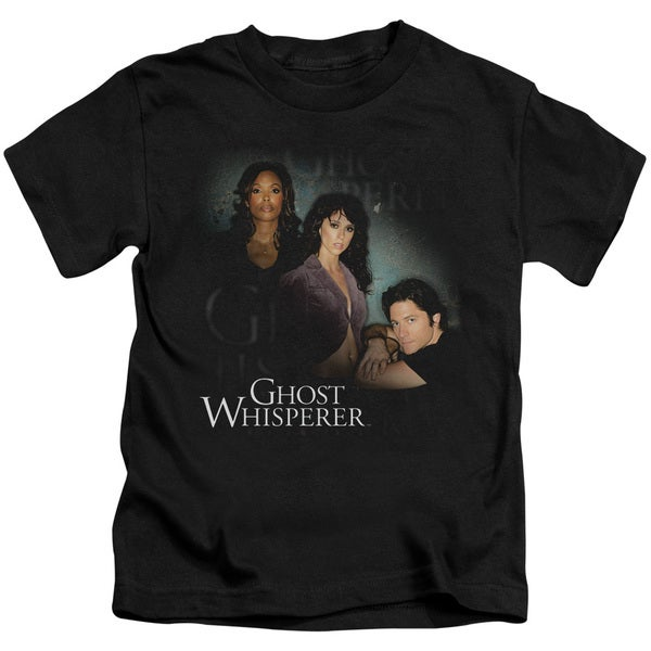 Ghost Whisperer/Diagonal Cast Short Sleeve Juvenile Graphic T-Shirt in Black