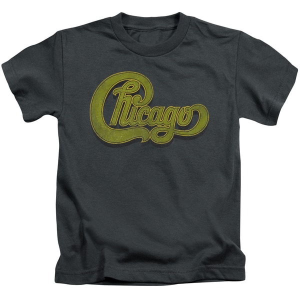 Chicago/Distressed Short Sleeve Juvenile Graphic T-Shirt in Charcoal