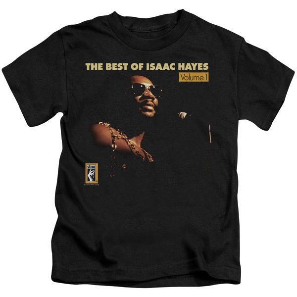 Isaac Hayes/Chain Vest Short Sleeve Juvenile Graphic T-Shirt in Black