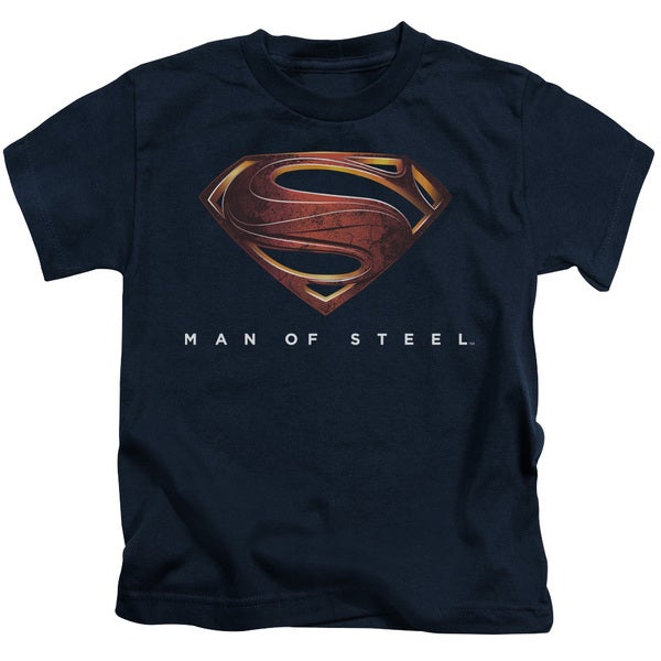 Man Of Steel/Mos New Logo Short Sleeve Juvenile Graphic T-Shirt in Navy