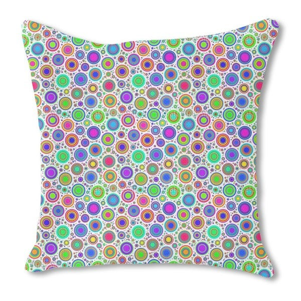 Neon Bubbles Burlap Pillow Single Sided