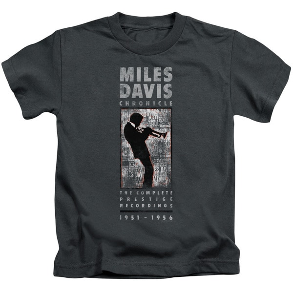 Miles Davis/Miles Silhouette Short Sleeve Juvenile Graphic T-Shirt in Charcoal