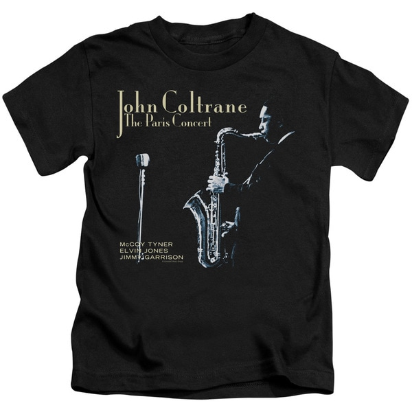 John Coltrane/Paris Coltrane Short Sleeve Juvenile Graphic T-Shirt in Black