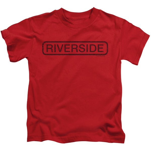 Riverside Vintage Short Sleeve Juvenile Graphic T-Shirt in Red