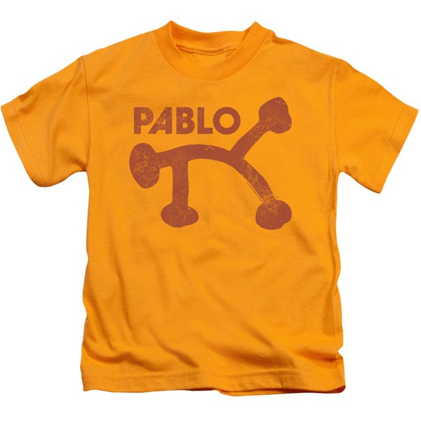 Pablo Distress Short Sleeve Juvenile Graphic T-Shirt in Gold