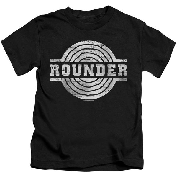 Rounder Retro Short Sleeve Juvenile Graphic T-Shirt in Black