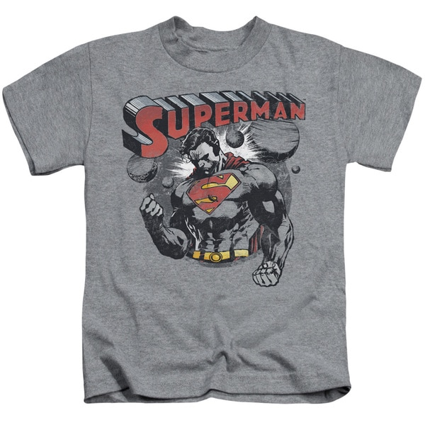 Superman/Super Ko Short Sleeve Juvenile Graphic T-Shirt in Athletic Heather
