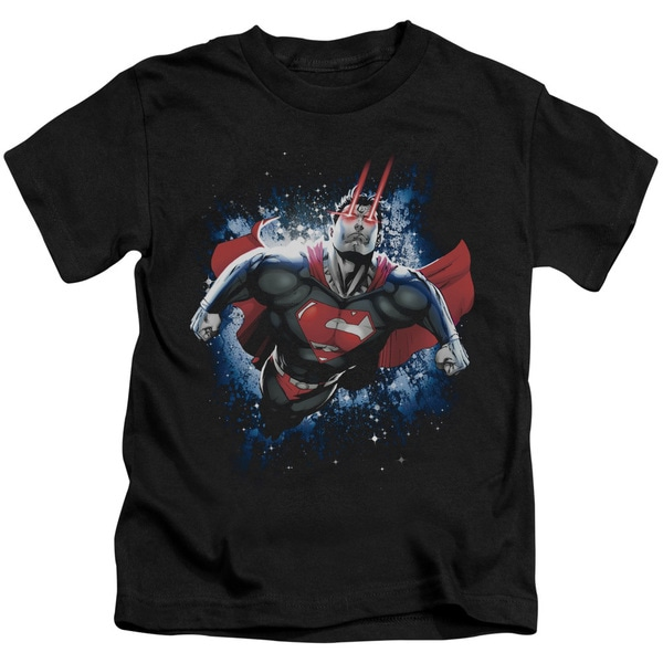 Superman/Stardust Short Sleeve Juvenile Graphic T-Shirt in Black