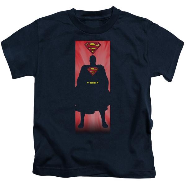 Superman/Block Short Sleeve Juvenile Graphic T-Shirt in Navy