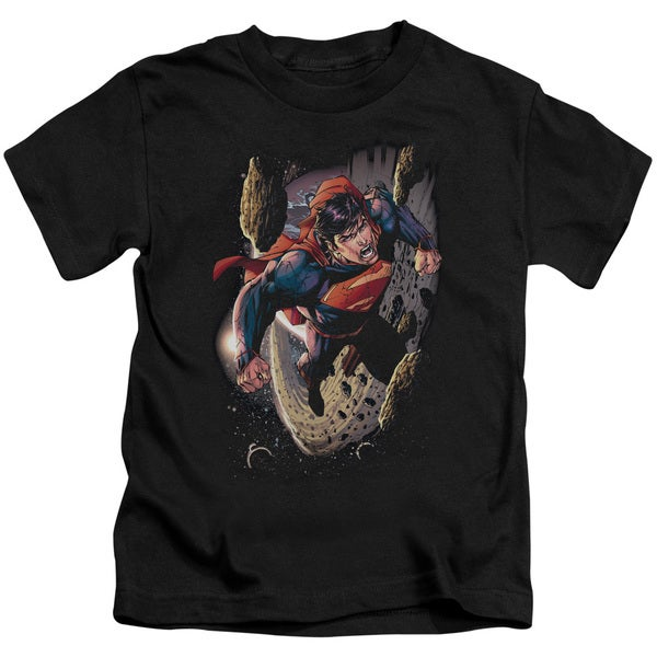Superman/Orbit Short Sleeve Juvenile Graphic T-Shirt in Black
