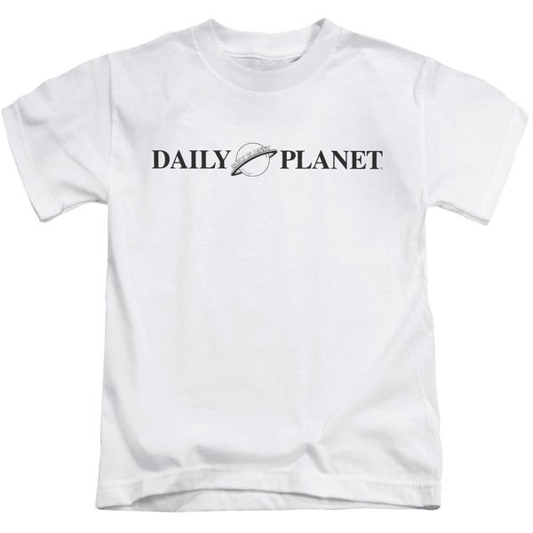 Superman/Daily Planet Logo Short Sleeve Juvenile Graphic T-Shirt in White