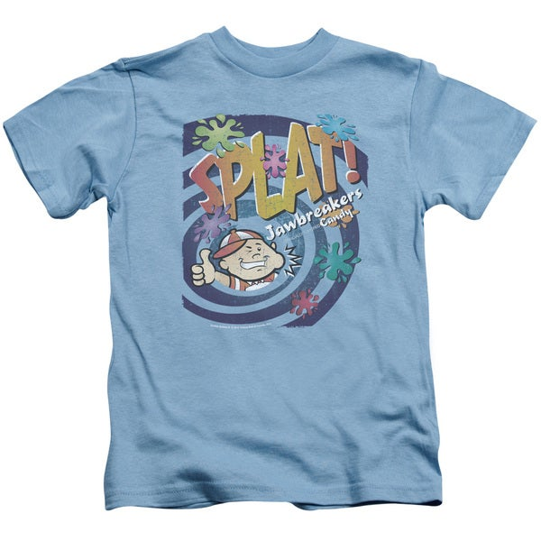 Dubble Bubble/Splat Jawbreakers Short Sleeve Juvenile Graphic T-Shirt in Carolina Blue