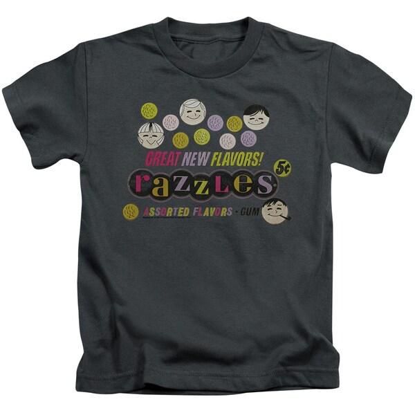 Dubble Bubble/Razzles Retro Box Short Sleeve Juvenile Graphic T-Shirt in Charcoal