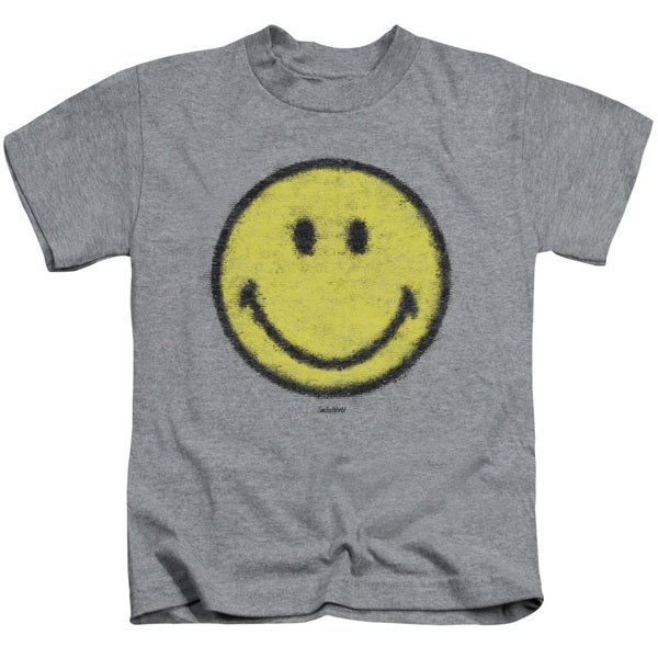 Smiley World/Paper Jam Short Sleeve Juvenile Graphic T-Shirt in Heather