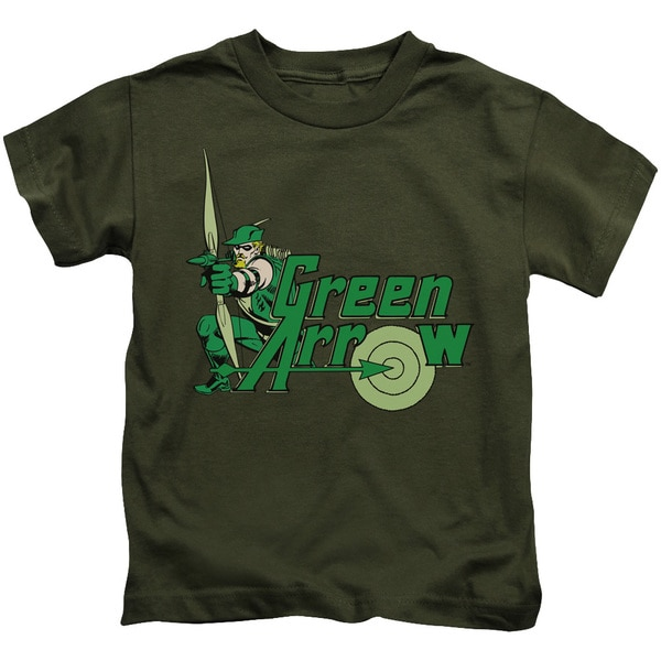 DC/Green Arrow Short Sleeve Juvenile Graphic T-Shirt in Military Green
