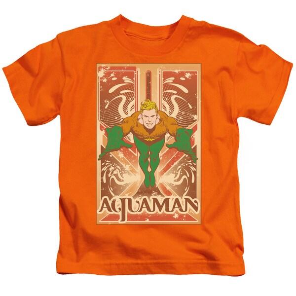 DC/Aquaman Short Sleeve Juvenile Graphic T-Shirt in Orange