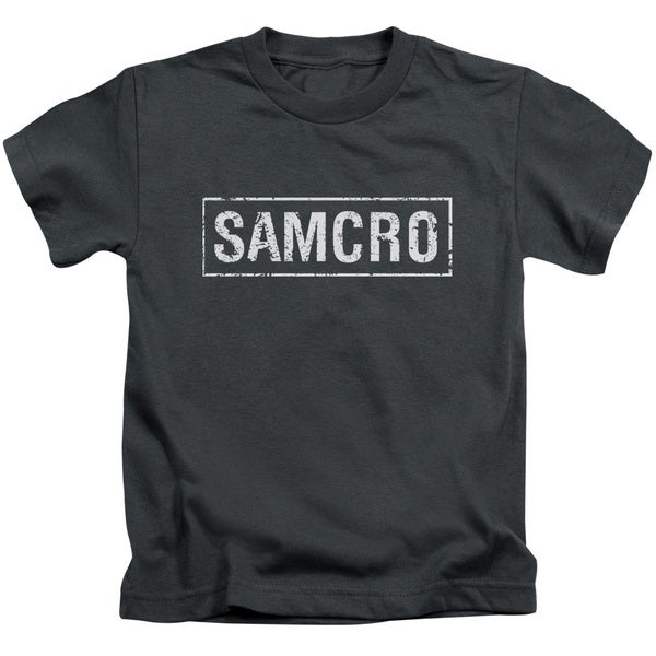 Sons Of Anarchy/Samcro Short Sleeve Juvenile Graphic T-Shirt in Charcoal