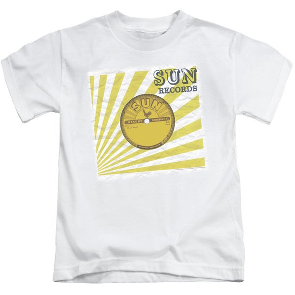 Sun/Fourty Five Short Sleeve Juvenile Graphic T-Shirt in White