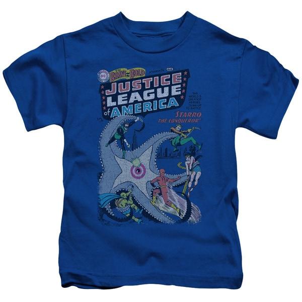DC/No 28 Short Sleeve Juvenile Graphic T-Shirt in Royal