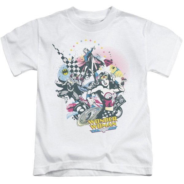 DC/Power Trio Short Sleeve Juvenile Graphic T-Shirt in White