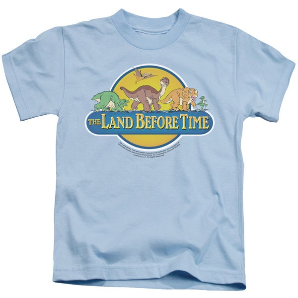 Land Before Time/Dino Breakout Short Sleeve Juvenile Graphic T-Shirt in Light Blue